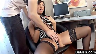 Filming Her First Time Deepthroating